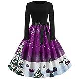 Vectry Damen Weihnachtskleider Partykleid Abendkleid Cocktailkleid Vintage...